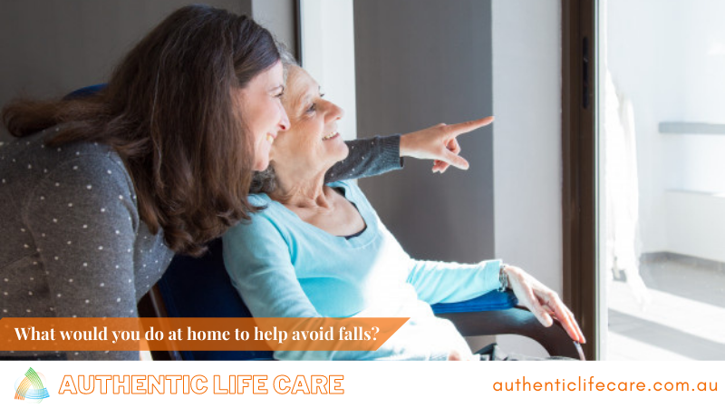 What would you do at home to help avoid falls?